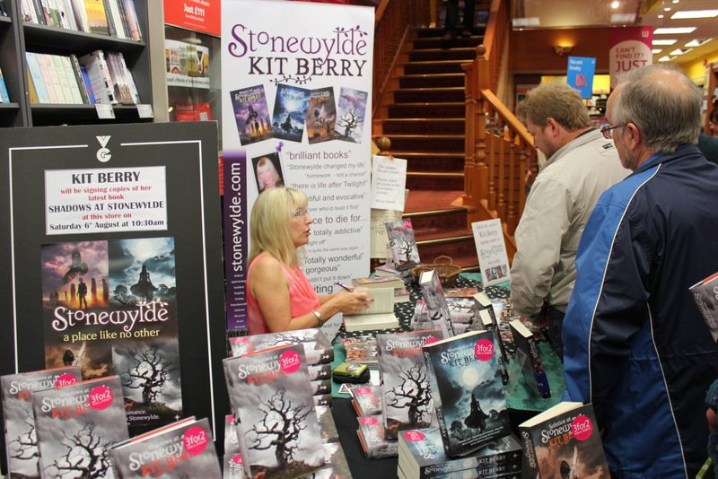 A busy book signing in Dorchester