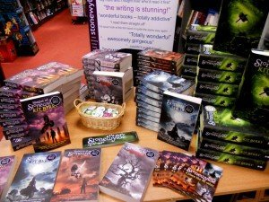 A Stonewylde display at Camberley Waterstones