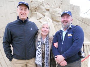 Kit Berry with Mark and Dave of Sandworld